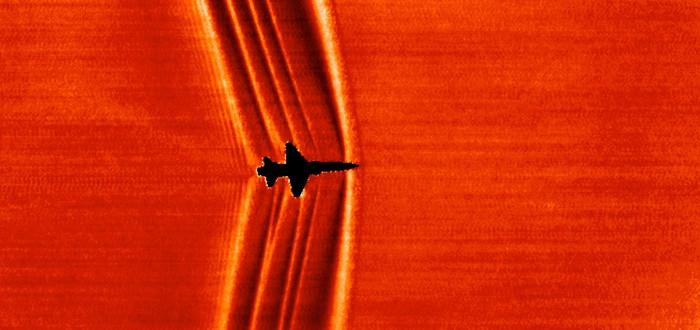 NASA использует Солнце и Луну в качестве фона фотографий для изучения ударных волн