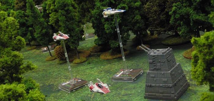 Шикарная настольная игра по Star Wars, где управлять придется X-Wing и TIE файтерами