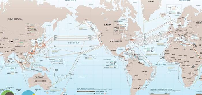 США опасается, что Россия может обрубить подводные коммуникационные кабели