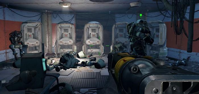Сражение между сотней противников в Fallout 4