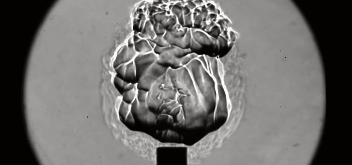 Взрыв метана при помощи лазера на частоте 10,000 кадров в секунду