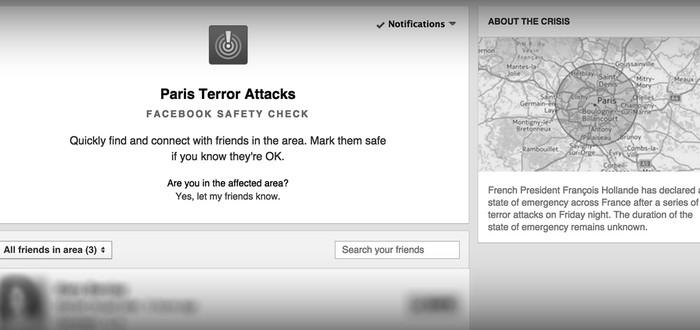 Facebook уведомляет о безопасности ваших друзей в Париже после террористических атак