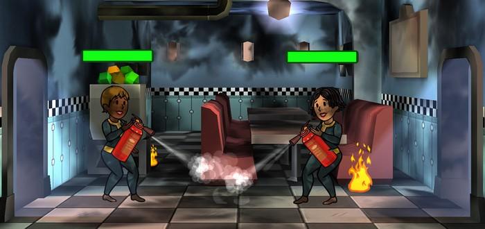 Праздничная индейка в столовой Fallout Shelter
