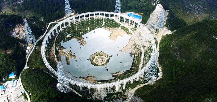 Short: прогресс в возведении самого большого радио-телескопа
