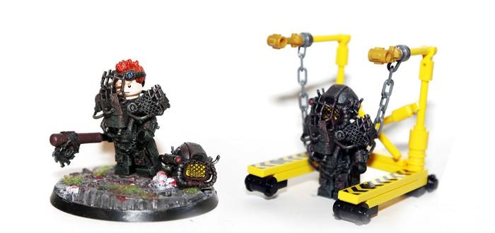 Кастомные фигурки Lego в стиле Fallout 4