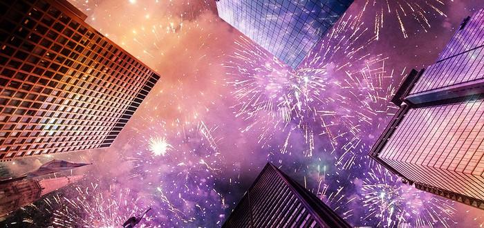 Сверкающий город — Новый Год с высоты дрона