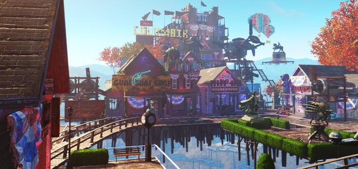 Поселение Fallout 4 в стиле BioShock Infinite