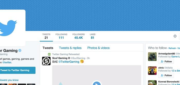 Twitter получил раздел по Геймингу