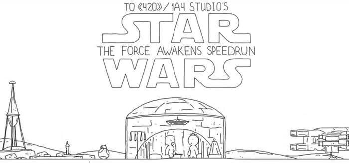 Сюжет Star Wars: The Force Awakens в минималистичной анимации за 60 секунд
