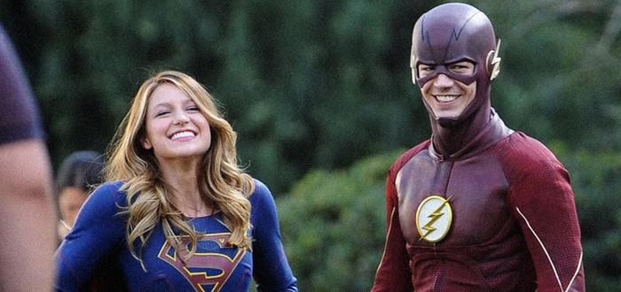 Фотографии из кроссовера Flash x Supergirl