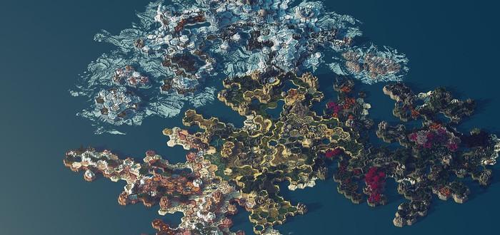 400 часов на создание потрясающей карты Minecraft