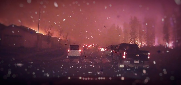 Пожар в Канаде выглядит как конец света