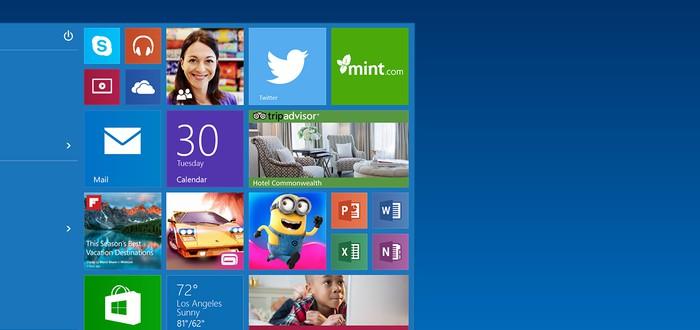 Microsoft добавит больше рекламы в меню Пуск