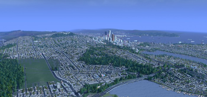 Сиэтл воссоздали в Cities Skylines