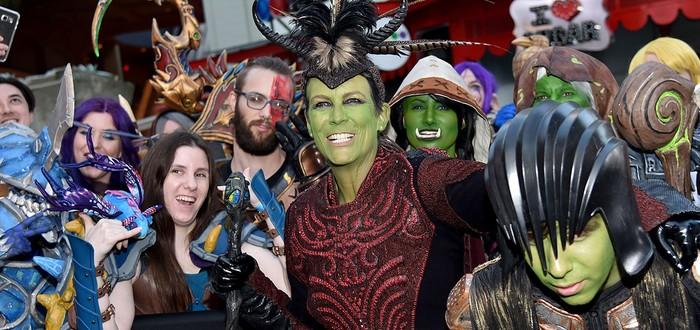 Джейми Ли Кертис на премьере Warcraft