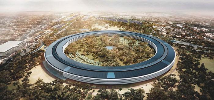 Очередной облет офиса Apple Campus 2 за $5 миллиардов