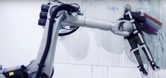 Современное искусство: робот пишет картины человеком