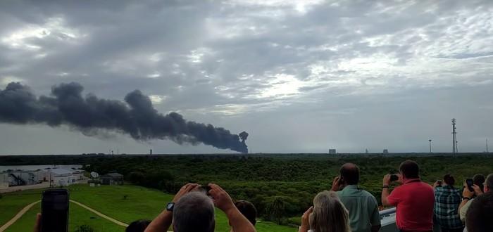 Ракета Falcon 9 от SpaceX взорвалась во время тестовой подготовки