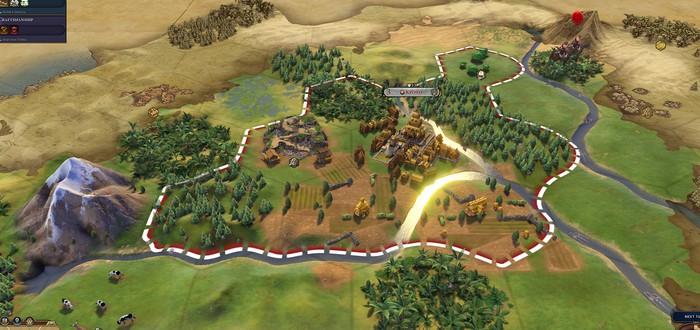 Сброс атомной бомбы в Civilization VI