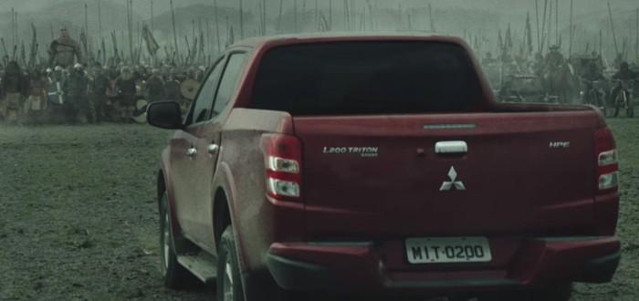 Кинореклама Mitsubishi со сценами из фильмов