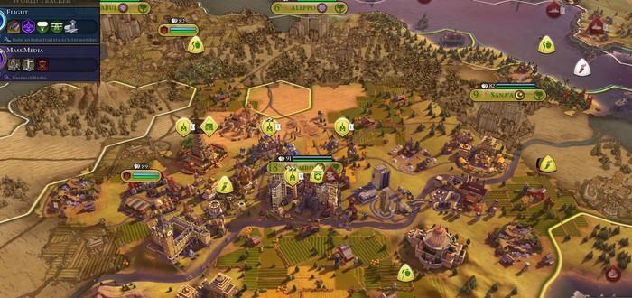 Огромная карта Земли в Civilization VI плавит железо