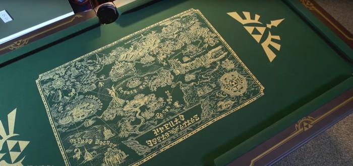 Шикарный бильярдный стол в стиле Legend of Zelda