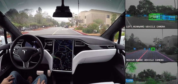 Автопилот Tesla предсказал аварию