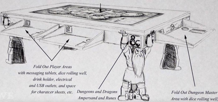 Фанату D&D подарили шикарный стол для настольных игр