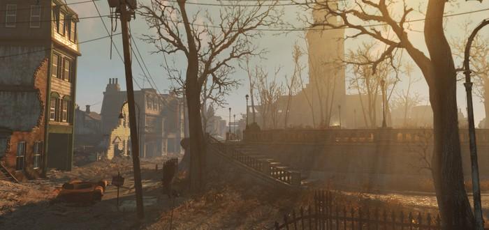 Fallout 4: однобокий взгляд на правый верхний угол рандомного камня.