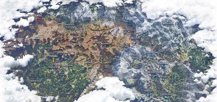 Полная карта Horizon: Zero Dawn утекла в сеть