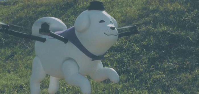 Летающая собака-дрон стала талисманом города в Японии