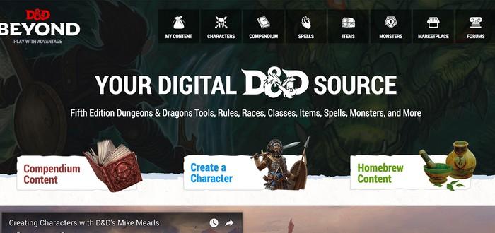 Состоялся релиз D&D Beyond — интернет-инструментария Dungeons & Dragons