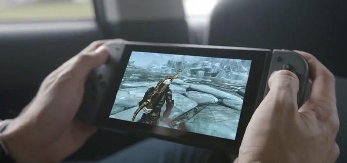Запись геймплея TESV: Skyrim с Nintendo Switch