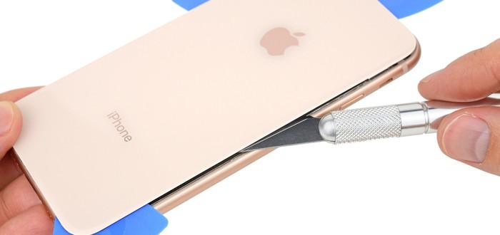 Вскрытие iPhone 8 показало, что стеклянную крышку лучше не разбивать