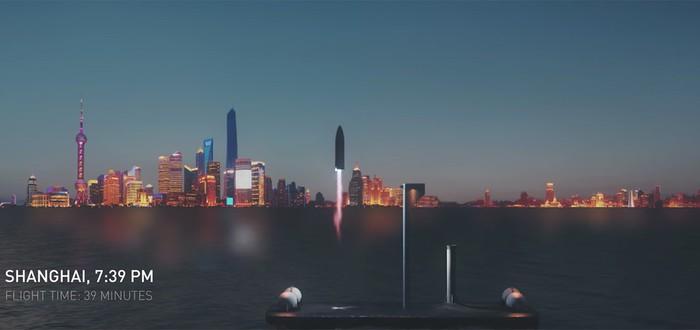 Илон Маск предлагает летать между городами на ракете