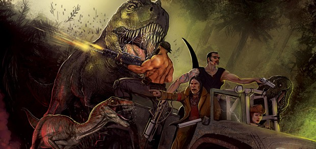 Unigine с динозаврами