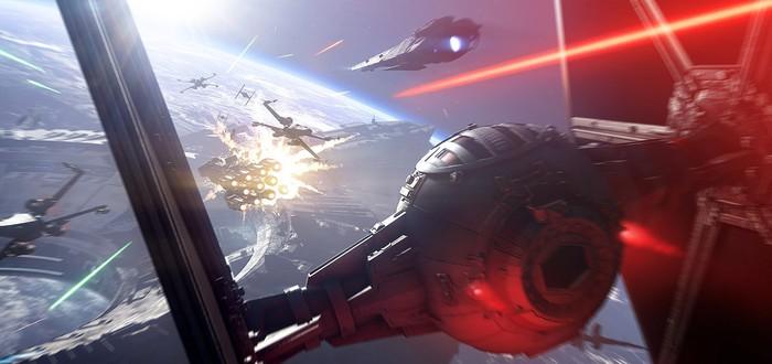 Геймплей космического сражения из беты Star Wars Battlefront 2