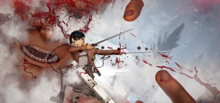 Новые кровавые скриншоты Attack on Titan 2