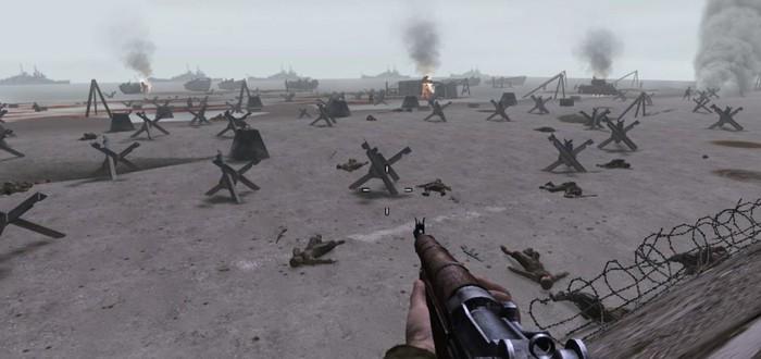Высадки в Нормандии из Medal of Honor и Call of Duty