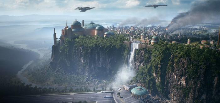 Сравнение графики Star Wars: Battlefront 2 на PC, Xbox One и Xbox One X