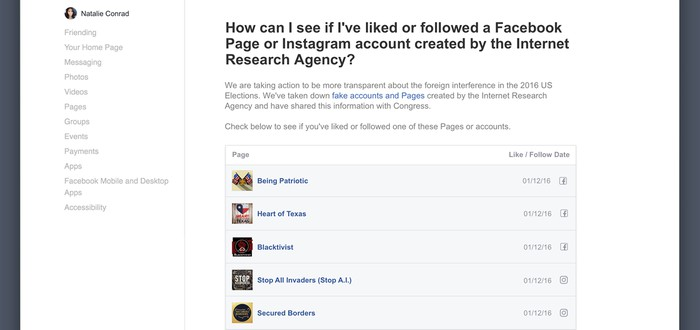 Facebook уведомит американцев, которые видели российскую пропаганду