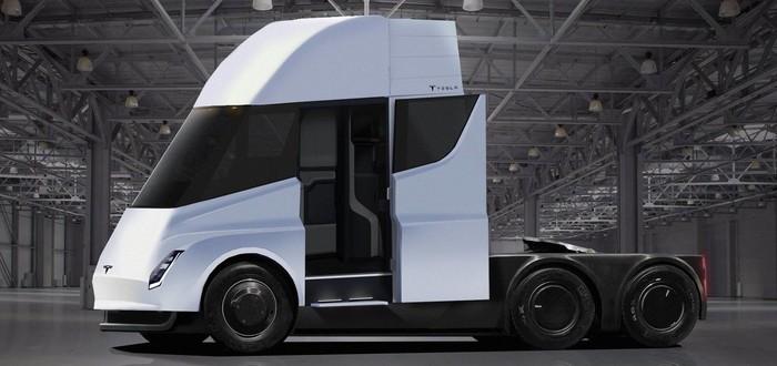 Первые электрические грузовики Semi купит сама Tesla