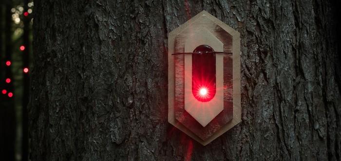 Голландский художественный коллектив разместил  цифровой организм в лесу