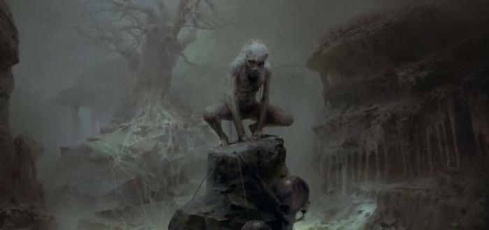 Голлум-зомби на артах Project Wight
