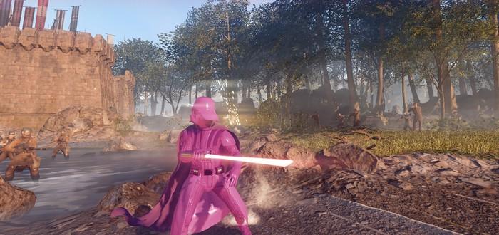 Мод Star Wars Battlefront 2 позволяет сыграть за розового Дарта Вейдера