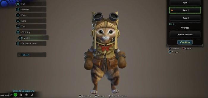 Редактор персонажей Monster Hunter: World позволяет делать красивых людей и котов