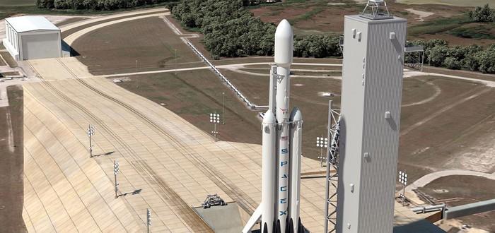 SpaceX успешно протестировала двигатели Falcon Heavy