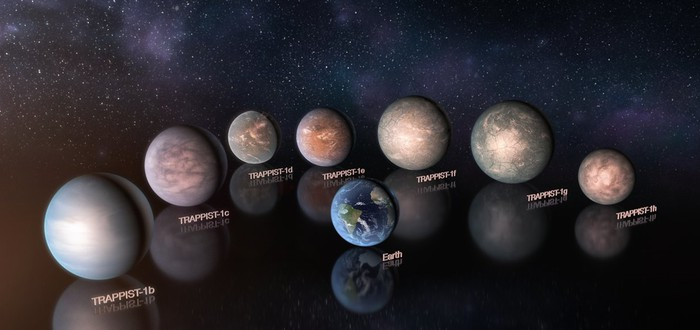На планетах системы TRAPPIST–1 может быть вода