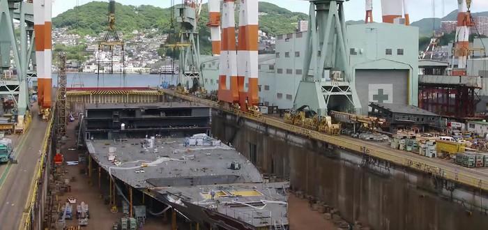 Таймлапс строительства круизного лайнера