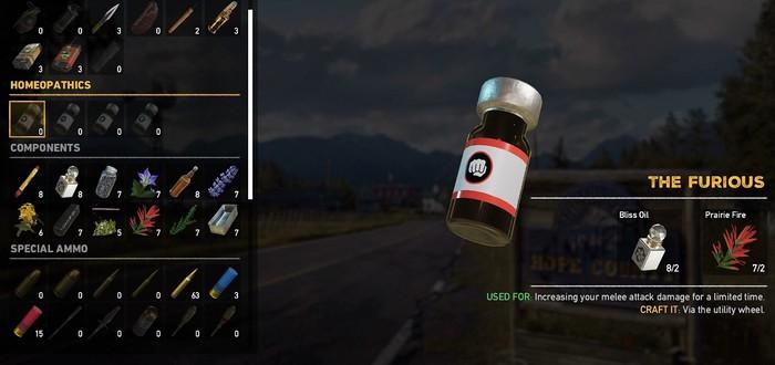 Гайд по крафту взрывчатки и зелий в Far Cry 5